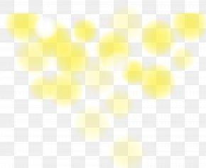 Yellow Halo Effect Element - Symmetry Yellow Angle Pattern PNG