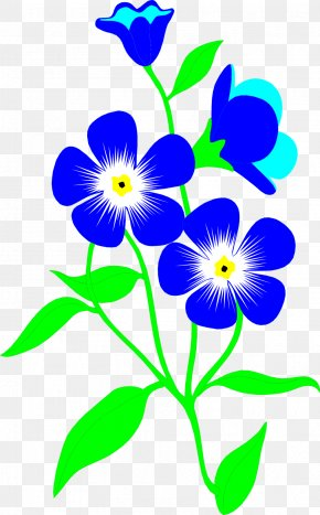 Blue Flower - Father's Day Parents' Day Wish Gift PNG