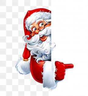 Naughty Santa Claus - Santa Claus Christmas Cartoon Illustration PNG
