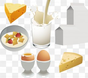 Milk And Bread - Milk Breakfast Dairy Product Food Clip Art PNG