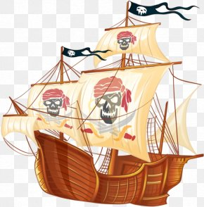 Skull Pirate Ship - Ship Piracy PNG