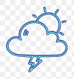 Line Art Weather Icon - Cloud Icon Day Icon Forecast Icon PNG