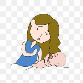 Mother Feed Baby Milk Picture Material - Milk Child Hiccup Breastfeeding Mother PNG