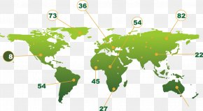 World Map Vector Creative Design Diagram Data Numbers - Globe World Map PNG