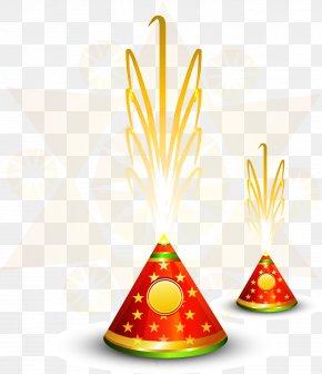 Vector Fireworks - Diwali Fireworks Firecracker Hindi PNG