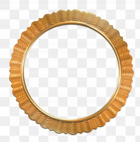 Antique Gold Photo Frame - Picture Frame Clip Art PNG