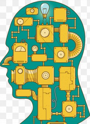 Mechanical Brain Illustrator - Brain Integrated Circuit Agy PNG