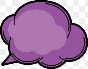 Vector Purple Clouds - Purple Euclidean Vector PNG