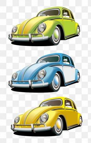 Legacy Convertible Car Painted - Vintage Car Volkswagen Beetle PNG