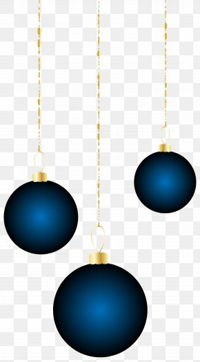 Transparent Christmas Blue Ornaments Clipart - Blue Product Sphere Design PNG