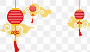 Decorative Chinese Lantern Style Clouds Vector Background - China Paper Lantern Euclidean Vector PNG