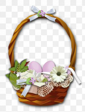Easter Flower Basket Clipart - Easter Basket Clip Art PNG