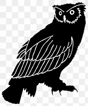 Owl - Great Horned Owl Silhouette Clip Art PNG