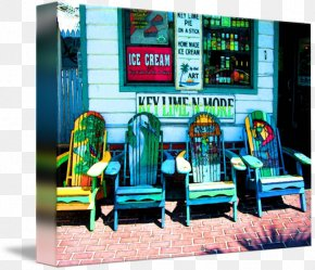Painting - Key West Gallery Wrap Canvas Painting Art PNG