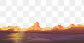 Vector Material Twilight Night - Sunset Night Afterglow Euclidean Vector PNG