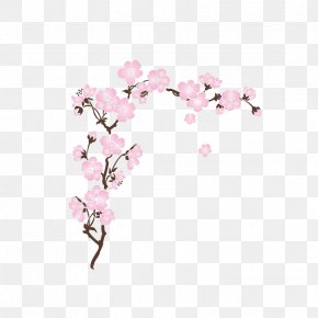 Flower Violet - Cherry Blossom Wall Decal Cerasus PNG