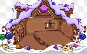 Igloo - Club Penguin Igloo Gingerbread House PNG