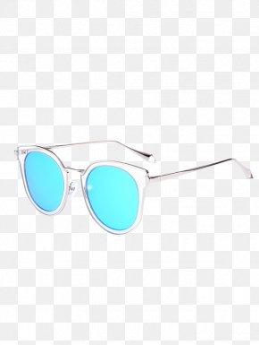 Blue Sunglasses - Goggles Sunglasses Cat Eye Glasses PNG