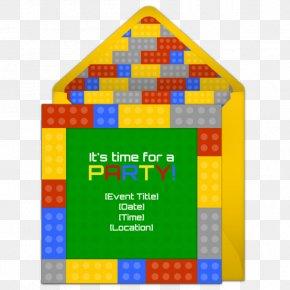 Lego Birthday Party - Wedding Invitation Toy Block Birthday Party LEGO PNG