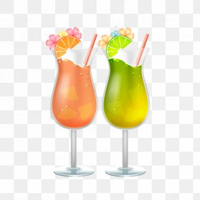 Summer Beach Cocktail - Cocktail Juice Sea Breeze Harvey Wallbanger Soft Drink PNG