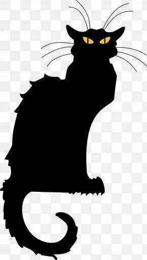 Black Cat Silhouette - Le Chat Noir Black Cat Tournxe9e Du Chat Noir Clip Art PNG