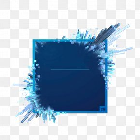 Blue Three-dimensional Effect Of The Shape Of Free Creative Explosion - Adobe Creative Cloud Photography Image Editing Software PNG