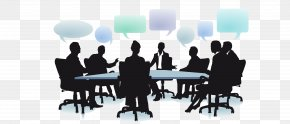 Business People Meeting Silhouette - Dialogue Social Organization Business Management PNG