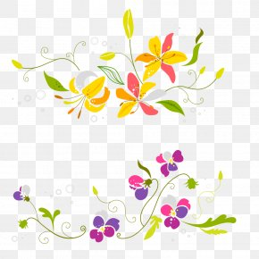 Two Colorful Flower Pattern - Flower Euclidean Vector PNG
