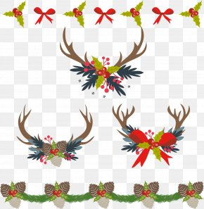 Retro Christmas Border - Christmas Decoration Computer File PNG