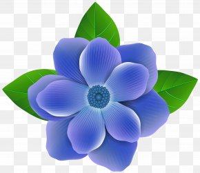 Blue Flower Clip Art Image - Blue Flower Clip Art PNG