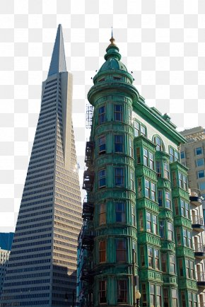 TransAmerica Pyramid - Coit Tower Transamerica Pyramid Columbus Tower Building PNG