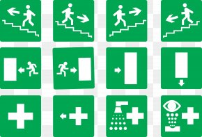 Vector Dead - Emergency Exit Exit Sign Stairs PNG