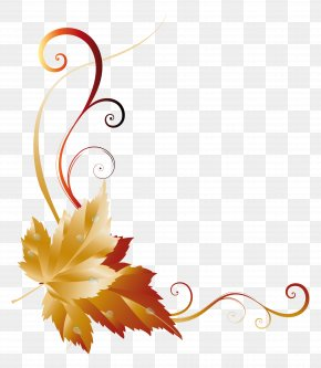 Fall Transparent Leaf Decor Picture - Autumn Leaf Color Clip Art PNG