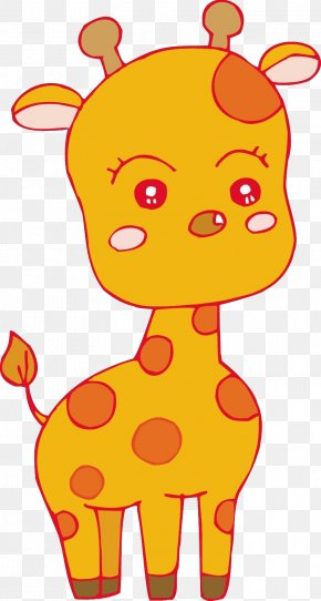 Cute Giraffe - Cartoon Illustration PNG