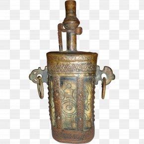 Flask - Powder Flask Laboratory Flasks Antique Black Powder Copper PNG