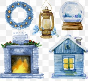 Christmas Houses With Oil Lamps - Fancy Dress Christmas PNG