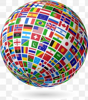 Flag,Flag,Countries Flags,spherical - Globe Flags Of The World World Flag PNG