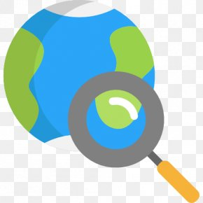And A Magnifying Glass Earth - Earth Magnifying Glass Icon PNG