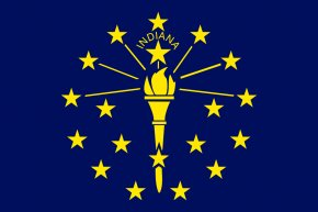 Flag Outline - Flag Of Indiana State Flag Flag Of The United States PNG