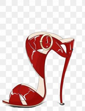 Red High Heels - High-heeled Footwear Shoe Designer Illustration PNG