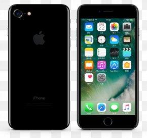 Black Apple Phone 7 - IPhone 6 Plus IPhone 7 Plus IPhone 6s Plus IPhone 5 IPhone X PNG