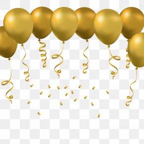 Vector Golden Balloon - Toy Balloon Euclidean Vector PNG
