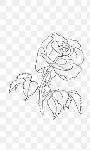 Rose - Coloring Book Drawing Rose Clip Art PNG
