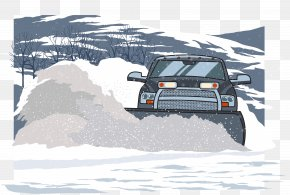 Clean Up The Residual Snow Vector - Pickup Truck Snowplow PNG