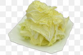 A Dish Of Cabbage - Chinese Cabbage Leaf Vegetable Dish PNG