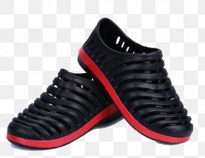 Black Men's Sandals - Slipper Sandal Shoe Flip-flops PNG