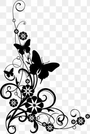 Cookout Flower Gothic - Butterfly Painting Art Drawing Design PNG