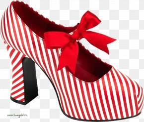 Women Shoes Image - Candy Cane Shoe High-heeled Footwear Boot PNG