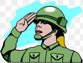 Salute The Soldiers - Salute Soldier Military Army Clip Art PNG