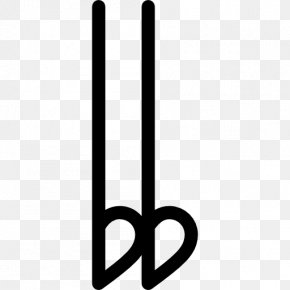 Musical Notation - Flat Doble Bemol Musical Notation Eighth Note PNG